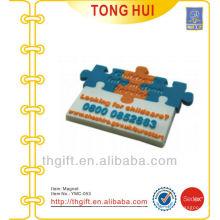 Kundenspezifischer Plastik dekorativer Kühlschrankmagnetaufkleber mit weichen Magneten