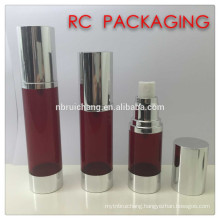 30ml/40ml/50ml airless bottle,aluminium round airless bottle,airless cosmetic bottle