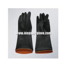 Leichter doppelter Farben-industrieller Latex-Handschuh-5605
