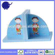 wooden kids bookend