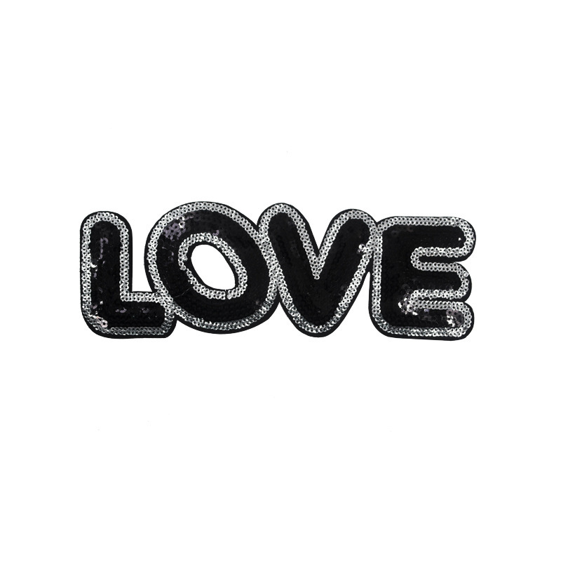 Sequin Love Letter Patches