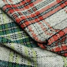 Букле модная пряжа окрашенная в клетку дизайнерская ткань