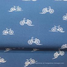 Tecido xadrez de popeline com camisa 100% algodão