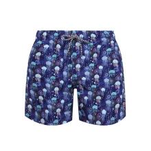 Drawstring Surf Printed Beach Shorts Trunks Mens Swimwear