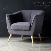 Le tissu rond de sofa de conception de nouveau sofa de chaises préside le sofa