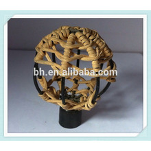 Beautifull Ball Rattan Cane Decorative Curtain Rods End Caps