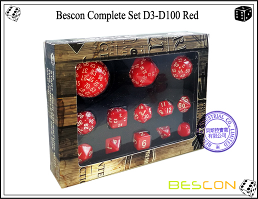 Complete Dice Set D3-D100 (7)
