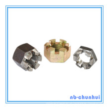 Hexagonal Hexágono Slotted Nut-1-5 / 8 ~ 1-3 / 4