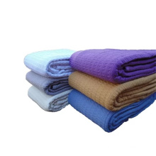 Waffle Weave Hospital Heavy Cotton Blankets In Solid Color