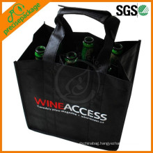 Promotional Non Woven 6 Wine Bottle Bag for champagne