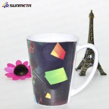 12oz Пластиковая сублимация Коническая белая кружка / чашка
