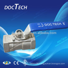 Good quality stainless steel 1 pc ball valve reduced port
