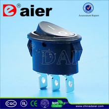 Oval 3 Pin 10A 125VAC Interruptor oscilador