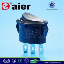 Interruptor de balancim Oval 3 Pin 10A 125VAC