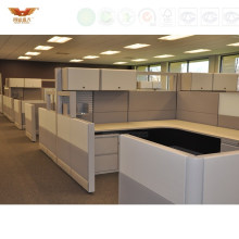 Hot Sale New Design Modern Straight Office Partition Workstation Cubicle with Ao2 System Style (HY-2939)