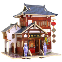 Brinquedo de madeira Collectibles para casas globais-China Tea House