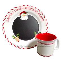 Mélamine Santa Set de vaisselle avec 2PCS (TZ6322)