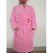 100% хлопок кимоно воротник велюровый халат