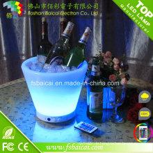 LED Eiskübel mit Fernbedienung Champage LED Eimer für Wein