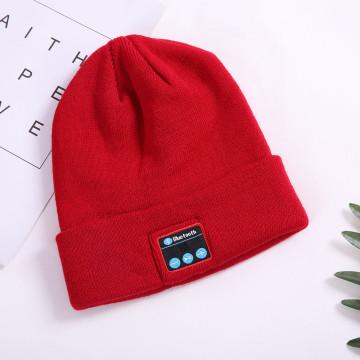 Inverno tricô gorro gorro bluetooth gorro chapéu fone de ouvido
