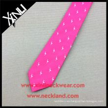 Corbatas tejidas de seda rosadas del flamenco del hombre hecho a mano