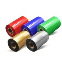 NX157 30m-110mm  red white black print premium resin bar-code ink labels thermal transfer printer  foil