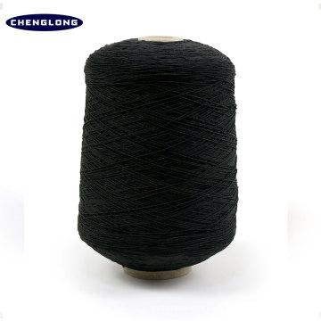 Hilo cubierto de goma de látex elástico para tejer hilados de hilo de goma negro