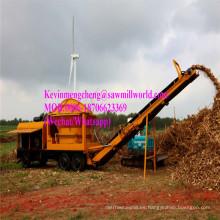Trituradora móvil de la rama de la máquina de viruta del tocón Enginetree diesel del topetón