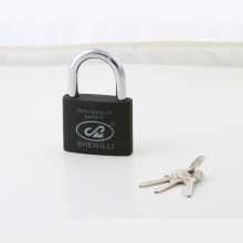 New Type Painted Plastic Iron Padlock with Half Brass Cylinder