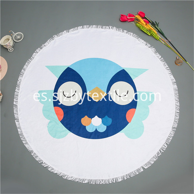 Round Beach Towel With Elastic