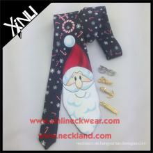 Siebdruck Polyester Krawatte Weihnachten