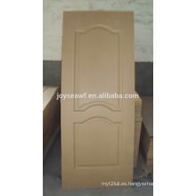 3mm mdf piel de puerta moldeada / paneles decorativos de la piel de la puerta interior / precios de la piel de la puerta