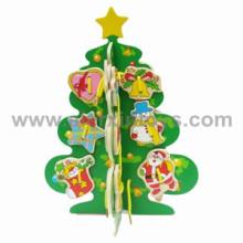 Juguetes de madera del lazo del árbol de navidad (81246)