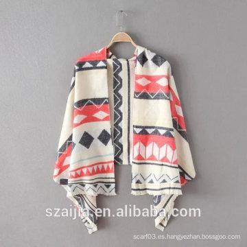 Forme a nuevo jacquard de las señoras pashmina de acrílico / bufanda larga