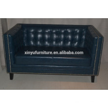 Neo Classical model chesterfield leather sofa XYN2697