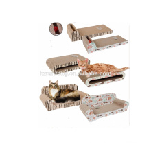 Stuhl Sofa geformt Karton Petfusion Ultimate Cat Scratcher Lounge für den Rest Katze Scartching Board mit kleinen Glocke CT-4006