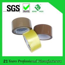 Fita de embalagem de baixo ruído marrom e amarelada