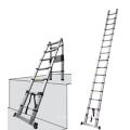 2.8+2.8m aluminum telescopic multi-purpose folding ladder with joint