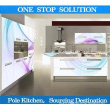 Pole gabinete de cocina moderna con alto brillo cocina 3D Cabient