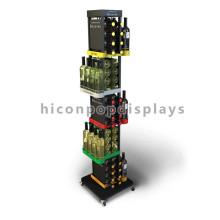 Floor Stand Functional Retail Shop Joyshaker Water Bottles Wholesale Metal Soda Bottle Display Rack