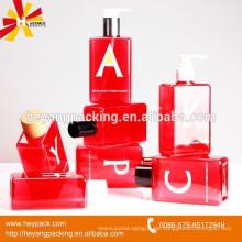 Heißer Verkauf quadratische PETG Plastikhaarfarbstoffflasche