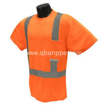 high visibility Safety reflective T-shirt with pocket