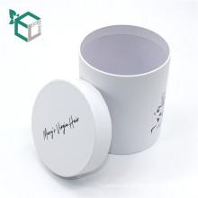 Печатание CMYK пантон белая художественная бумага круглая бумажная коробка пробки упаковывая