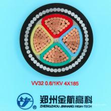 Câble d'alimentation blindé blindé en acier isolé en PVC (1KV4-185)