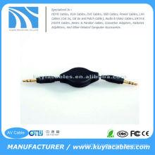 Câble d'extension audio rétractable mâle stéréo 3,5 mm pour iPod pour iPod iPod