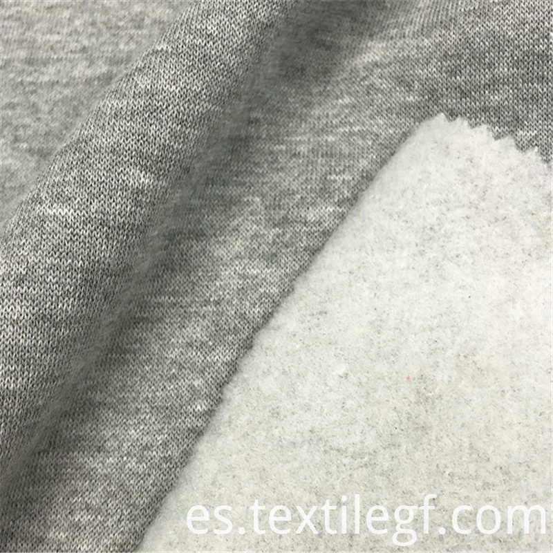 Polyester Fleece Knitted Brushed Garment CVC Fabrics (3)