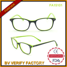 Wholesale Acetate Frame Glasses Green Color Frames (FA15101)
