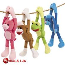 Conozca EN71 y ASTM brazos largos estándar y piernas juguete de felpa mono