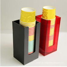 Kundenspezifischer Acryltrinkbecherhalter-Plexiglas Kaffee