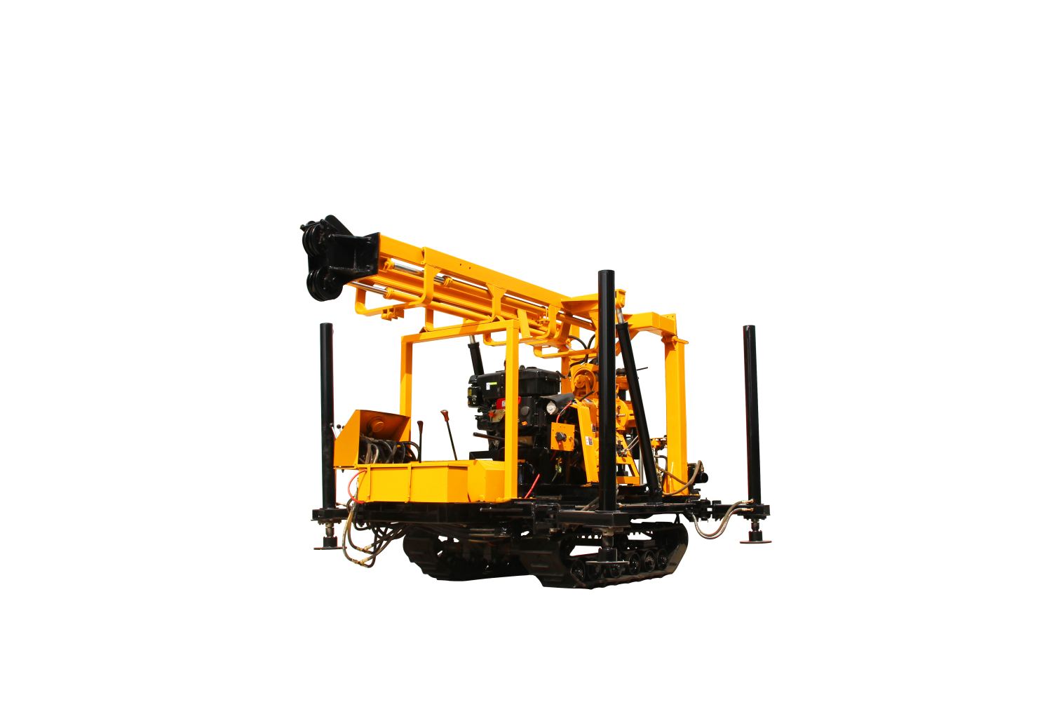 crawler water well drilling rig